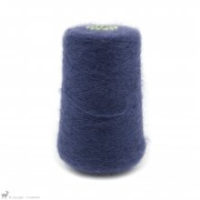 Fil de soie Knitting For Olive Soft Silk Mohair Dark Blue Cône