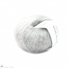 Fil de soie Knitting For Olive Soft Silk Mohair Pearl Gray