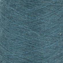Fil de soie Knitting For Olive Soft Silk Mohair Petroleum Green Cône