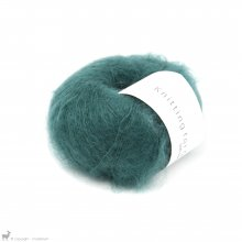 Fil de soie Knitting For Olive Soft Silk Mohair Petroleum Green