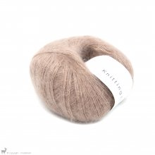 Fil de soie Knitting For Olive Soft Silk Mohair Rose Clay