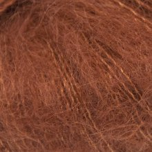 Fil de soie Knitting For Olive Soft Silk Mohair Rust