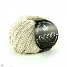 Fil de soie Ecotweed Blanc Meringue 01