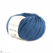 Fil de coton Softknit Cotton Bleu Indigo 585