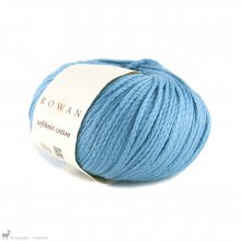 Fil de coton Softknit Cotton Bleu Pacifique 578