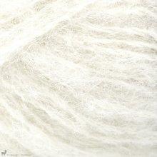 Laine d'alpaga Børstet Alpakka Blanc Nature 1012