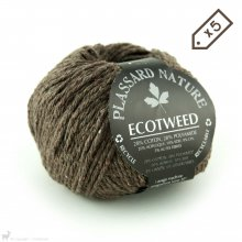 Fil de soie Lot de 5 pelotes d'Ecotweed Brun Ecorce 024