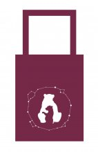 Goodies Madlaine Totebag Grande Ourse - Petite Ourse Grenat